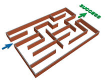 3d maze success concept Royalty Free Stock Photography