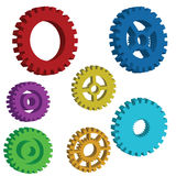 3D mechanical gears Stock Image