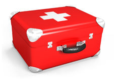 3d medical box. 3d medical red box on white background Stock Image