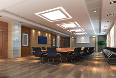 3d meeting room Royalty Free Stock Photography