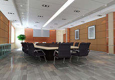 3d meeting room Stock Photography