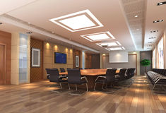 3d meeting room Stock Photos
