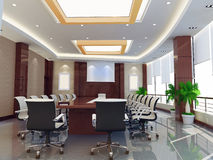 3d meeting room Stock Image