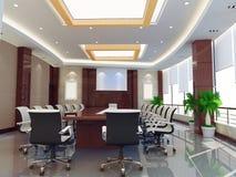 3d meeting room vector illustration