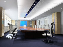 3d meeting room Royalty Free Stock Photos