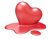 3d melting heart Royalty Free Stock Photo