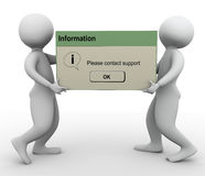 3d men contact support message Stock Images