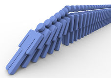 3d men domino Stock Image