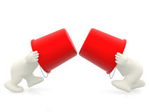 3D men fighting Royalty Free Stock Photo