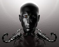 3D men head Stock Image