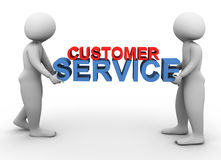 3d men holding customer service Royalty Free Stock Photo