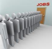 3d men Job search Stock Photo