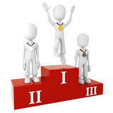 3d men on podium Royalty Free Stock Image