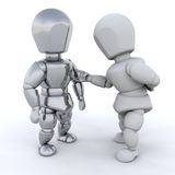 3D men talking. Isolated over a white background Royalty Free Illustration