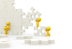 3D men - Teamwork Stock Images