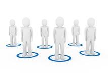 3d men teamwork network. Community team blue Stock Image