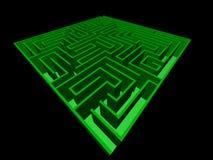 3D mening van het labyrint Stock Foto
