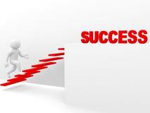 3d mens beklimt de ladder van succes Stock Foto