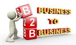 3d mens en b2b kubussen Royalty-vrije Stock Foto's