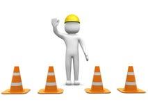 3d mens en verkeersmuntstukken stock illustratie