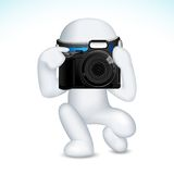 3d Mens in Vector met Camera Royalty-vrije Stock Afbeelding