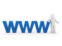 3d menschliches WWW Blau Lizenzfreie Stockbilder