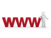 3d menschliches WWW Rot Stockfoto