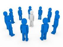 3d menselijk cirkel blauw wit Stock Foto's