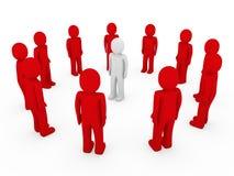 3d menselijk cirkel rood wit Royalty-vrije Stock Fotografie