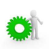 3d menselijk groen toestel Royalty-vrije Stock Afbeelding