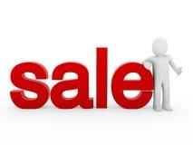 3d menselijk verkooprood Royalty-vrije Stock Foto's