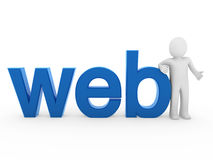 3d menselijk Webblauw Royalty-vrije Stock Foto's