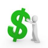 3d menselijke dollar Stock Foto
