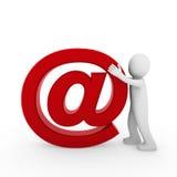 3d menselijke e-mail Royalty-vrije Stock Afbeelding