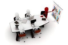 3d mensen commerciële vergadering royalty-vrije illustratie