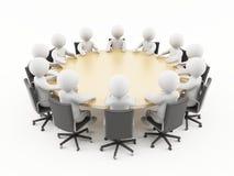 3D mensen in een commerciële vergadering Royalty-vrije Stock Afbeeldingen