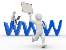 3d mensen en symbool Internet Royalty-vrije Stock Afbeelding