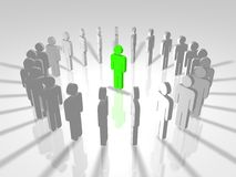 3D mensenleger royalty-vrije illustratie