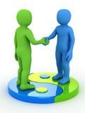 3d mensenpartner stock illustratie