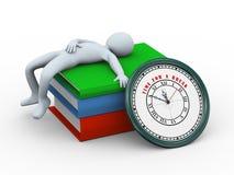 3d mensenslaap - tijd voor een onderbreking Stock Afbeelding