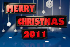 3D Merry Christmas 2011 Stock Image