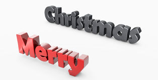 3D Merry Christmas Royalty Free Stock Image