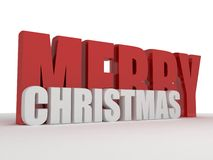 3d merry Christmas greeting text Stock Photography
