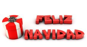3d Merry Christmas in spanish Stock Photos