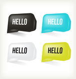 3D Message Hello. Vector Royalty Free Stock Images