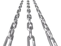 3d metal chain isolated on white Stock Photo