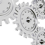 3d metal gear wheel render on white background Stock Photography