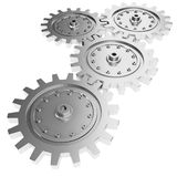3d metal gear wheel render on white background Stock Images