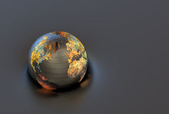 3d metal globe Stock Photos