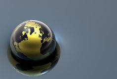 3d metal globe Royalty Free Stock Photos